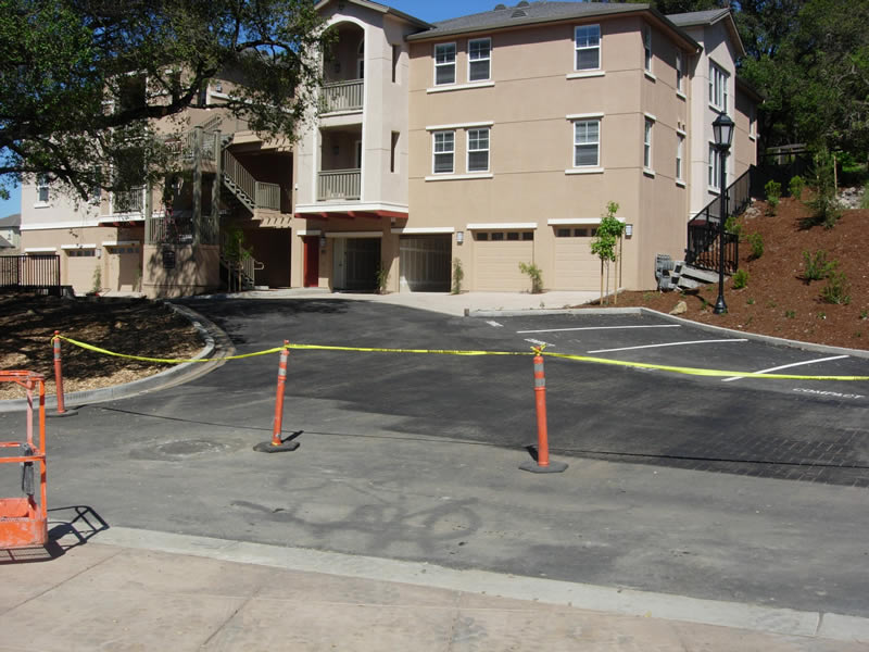 Asphalt Stamping Fountain Grove - before