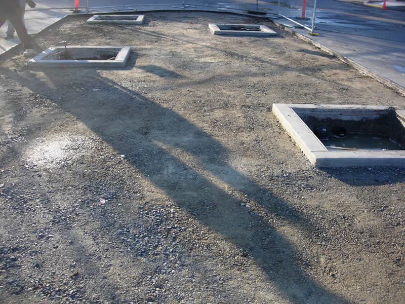 Asphalt Stamping Mill Valley Safeway-before