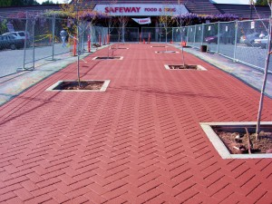 Asphalt Stamping at the Mill Valley Safeway-after