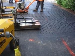 asphalt stamping