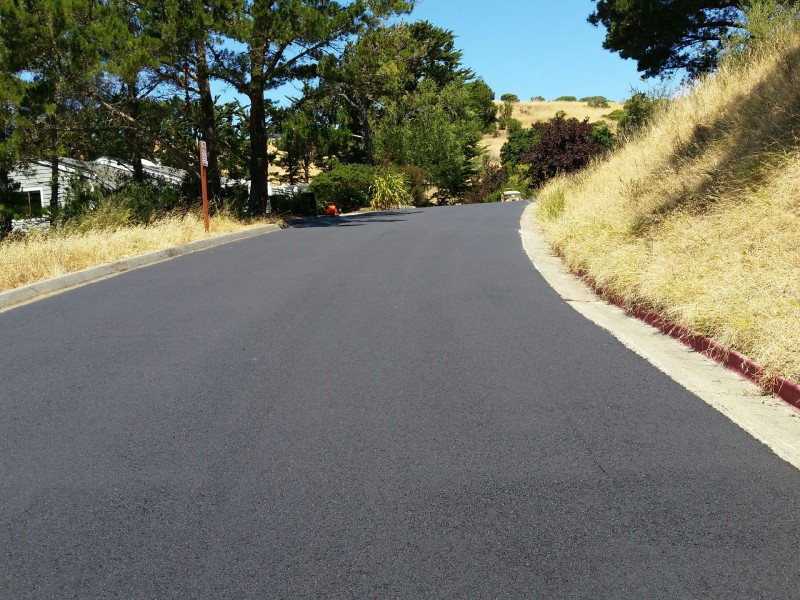 Private Road Asphalt Paving, Tiburon CA
