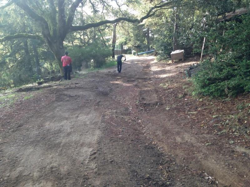 Preparing Private Roadway, Inverness CA