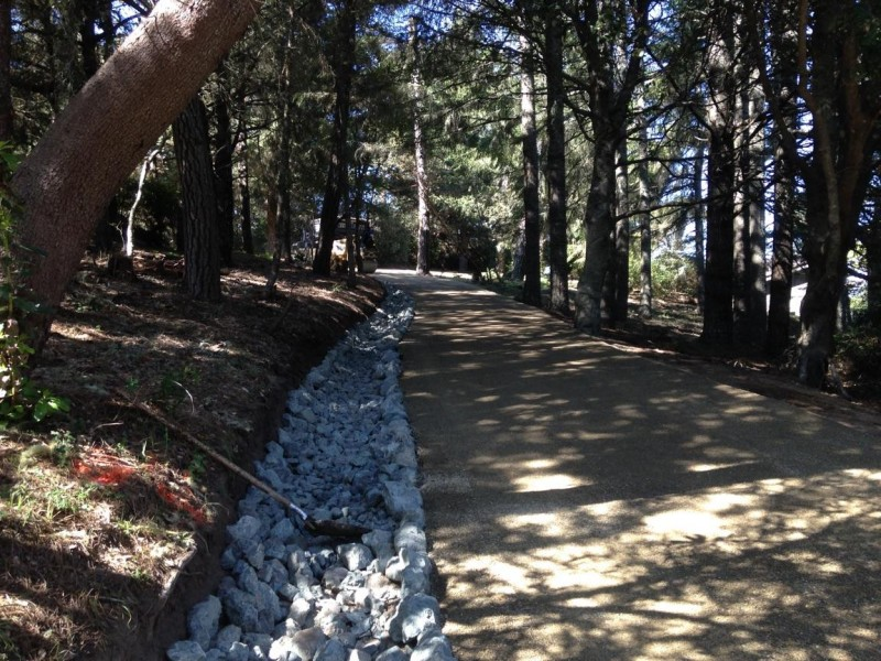 Private Road, 6 inch Rock Ditch, and Chip Seal, Inverness, CA