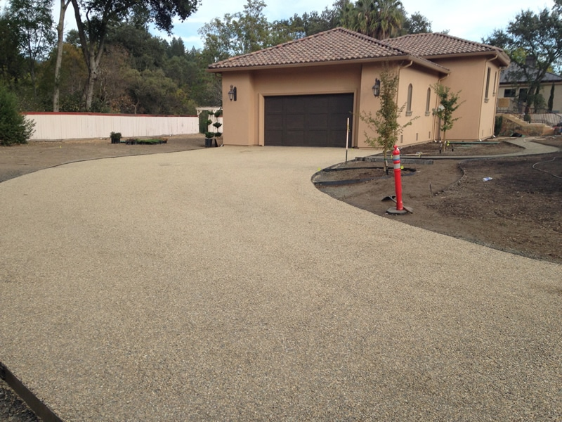 Chip Seal Calistoga Dunaweal Lane driveway after