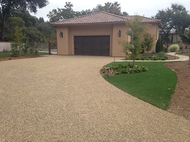 Gold Chip Seal Driveway, Dunaweal Lane, Calistoga CA