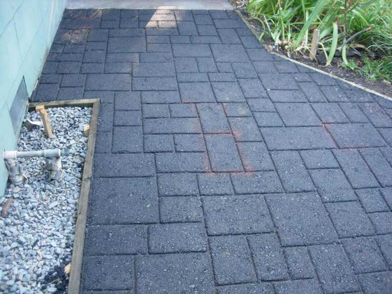 Ashlar Slate Pattern, Asphalt Stamping before coating