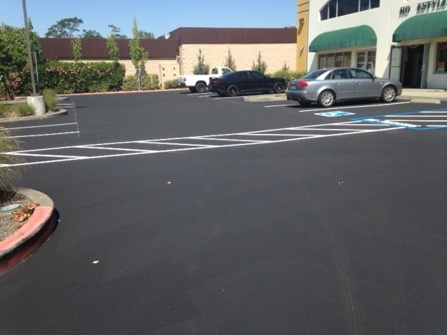 Asphalt Seal Parking Lot, Santa Rosa