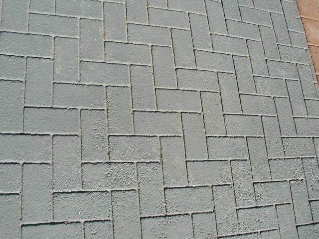 Herringbone Pattern, Asphalt Stamping