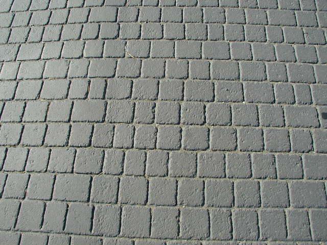 British Cobblestone Pattern, Asphalt Stamping