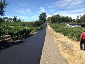 Asphalt Napa private road