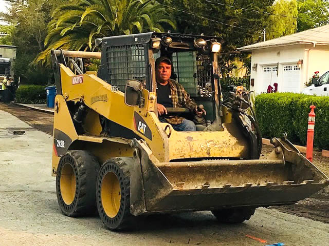 Novato road paving equipment