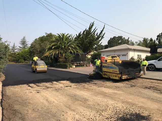 Novato roadway asphalt