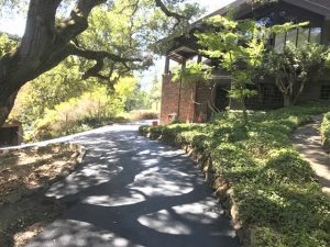 hilly asphalt driveway