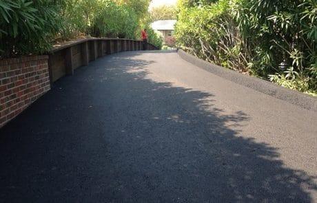 Asphalt driveway and berm San Rafael