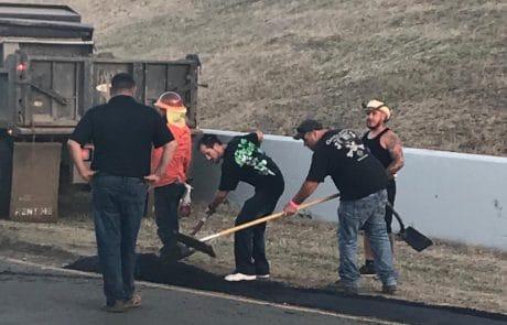 Asphalt paving at NASCAR Sonoma Raceway
