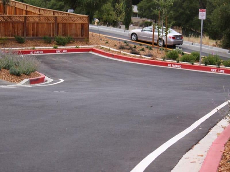 Commercial paving asphalt parking lot