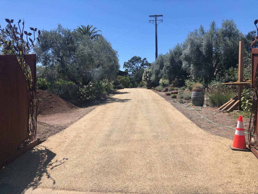 chip Seal Gold over Asphalt Driveway, Sonoma County