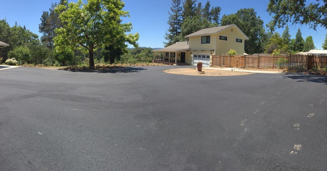 Asphalt driveway & road, Graton