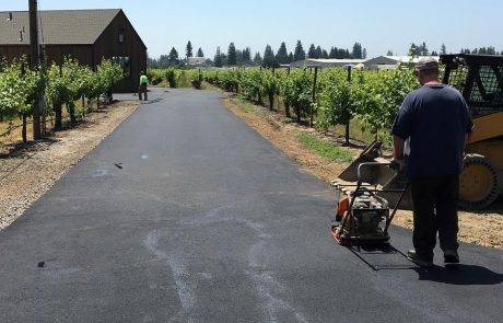 Sonoma county Healdsburg asphalt private road