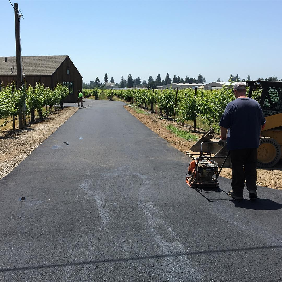 Sonoma county Healdsburg asphalt private road