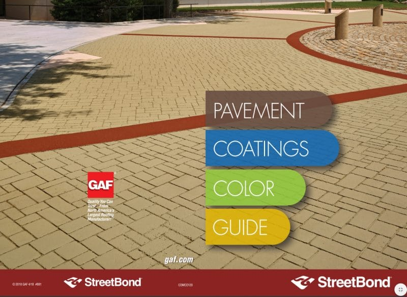 StreetBond pavement coatings color guide